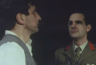 Screenshot from Spy! Episode 2 - Camp 020 - BBC - 1980 Wulf Schmidt tries the patience of The Commandant