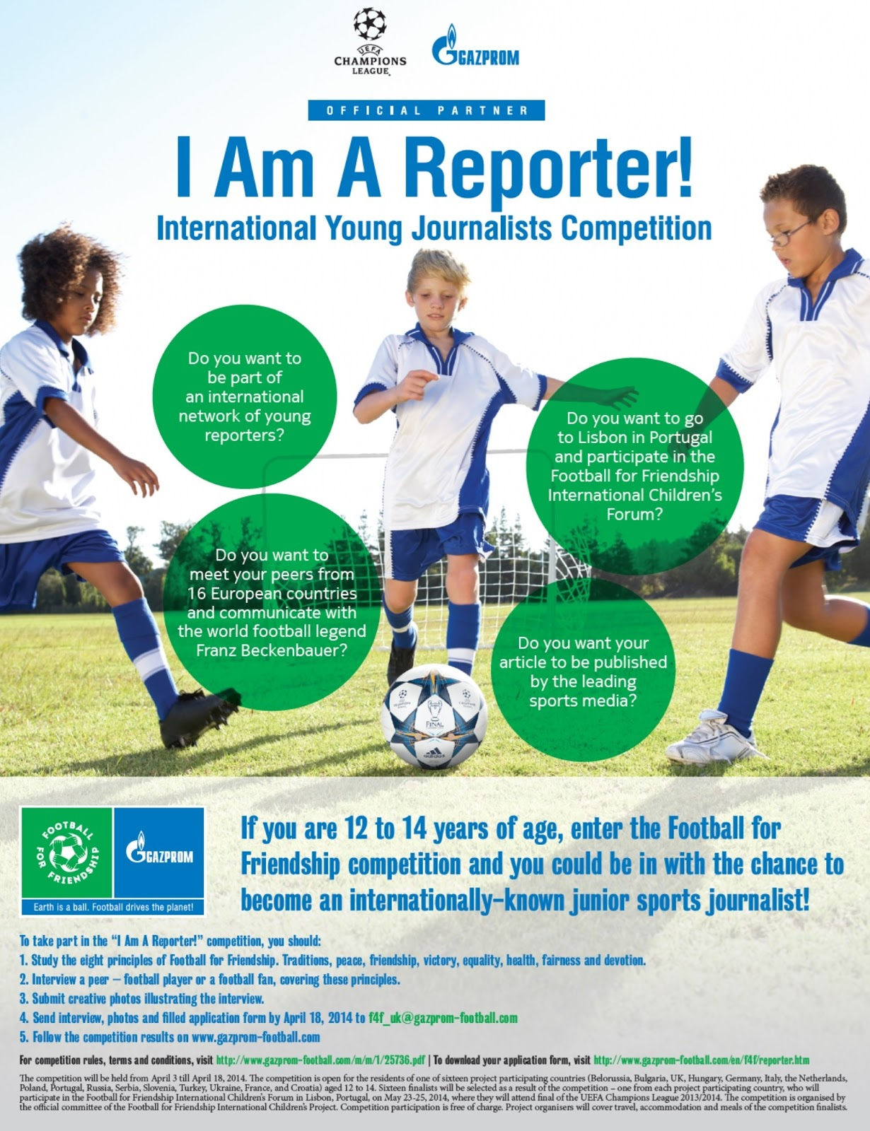 Football for Friendship Reporter Competition