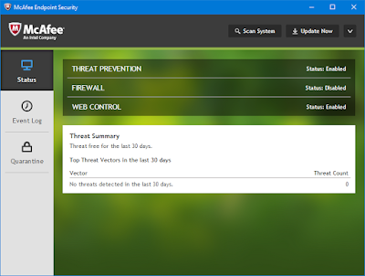 Screenshot McAfee Endpoint Security 10.5.3 Full Version