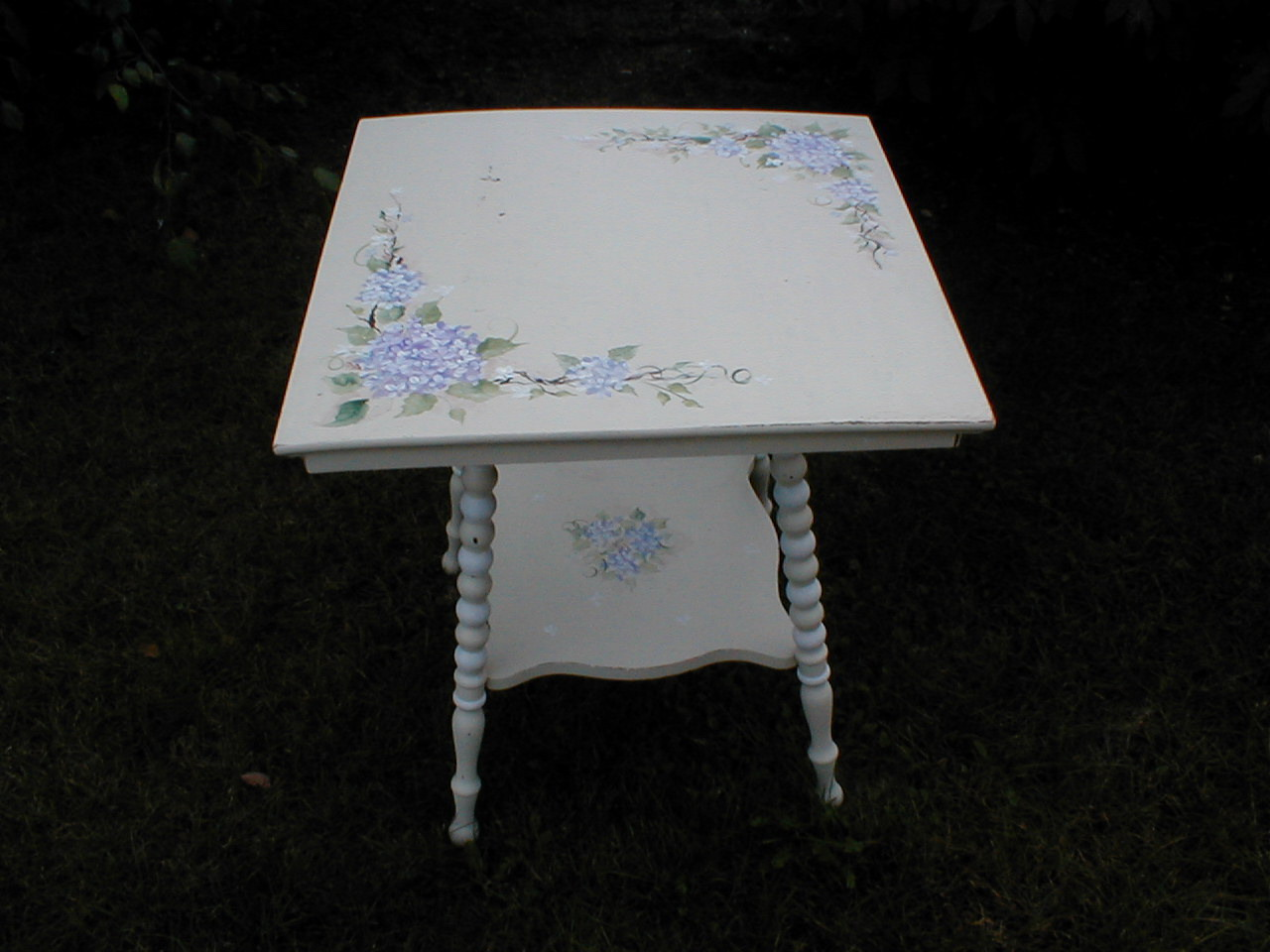 collage sheet girl white cottage painted furniture
