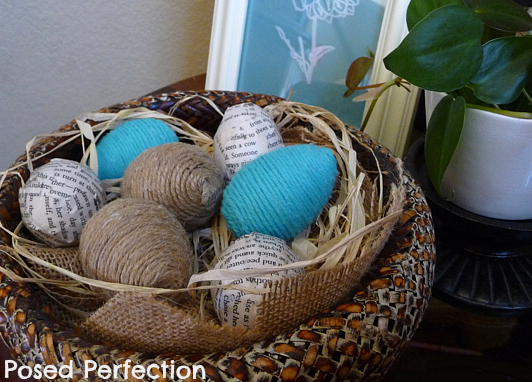 Twine-Wrapped Easter Eggs