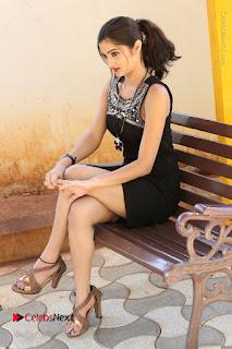 Actress Poojitha Pallavi Naidu Stills in Black Short Dress at Inkenti Nuvve Cheppu Movie Platinum Disc Function  0225.JPG