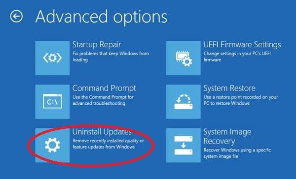 Cara Menghapus Pembaruan Windows 10 Disaat PC Tidak Booting
