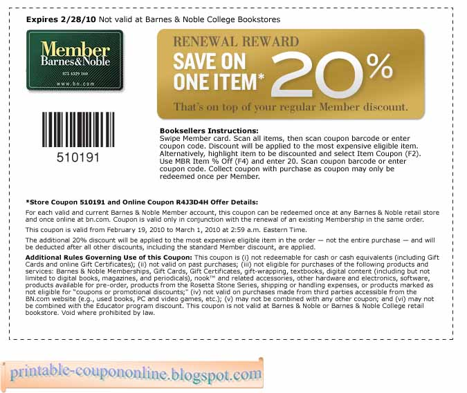 Barnes and noble coupon code 2018