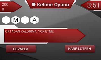 Android Türkçe Kelime oyunu tdk