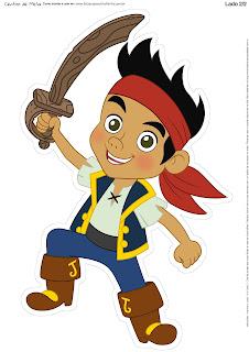 Centros de Mesa de Jake y los Piratas para Imprimir Gratis.