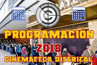 PROGRAMACIÓN | CALENDARIO de la Cinemateca Distrital 2018