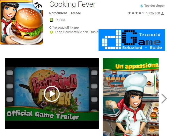 Trucchi Cooking Fever Mod Apk Android v2.2.2