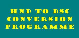 hnd conversion programme