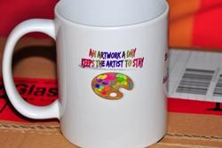 Künstlerkaffeetasse Links...