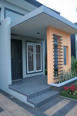 model teras rumah minimalis untuk rumah menghadap ke barat