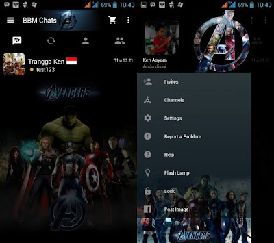 BBM Mod Tema Avengers Apk Plus Clone 2.10.0.35