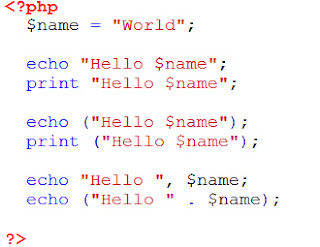 Memahami Pernyataan echo Dan print Pada PHP Beserta Contoh_