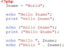 Memahami Pernyataan echo Dan print Pada PHP Beserta Contoh