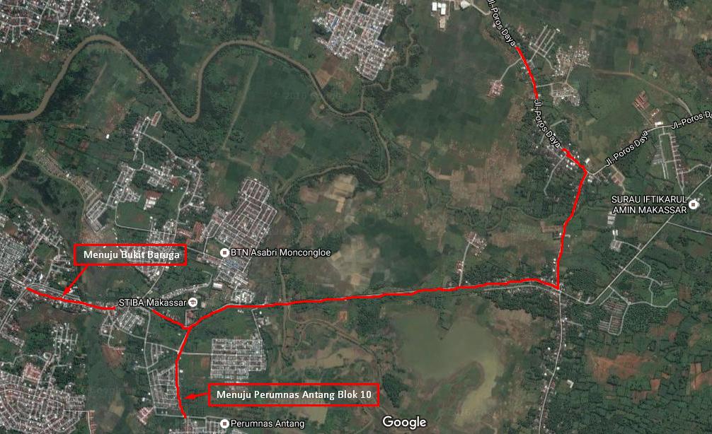 Jalur Alternatif BTP/Daya-Moncongloe-Antang
