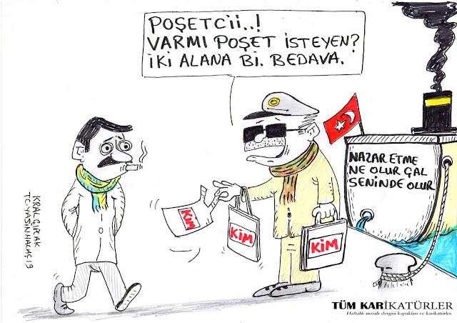 poşetçi karikatürü