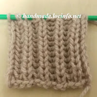 イギリスゴム編みの編み方, how to knit Brioche Stitch also called fisherans rib, 元宝针教程