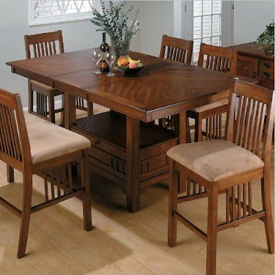 Rectangle Kitchen Table With Bench, Storage, Chair, Leaf and Pedestal Base