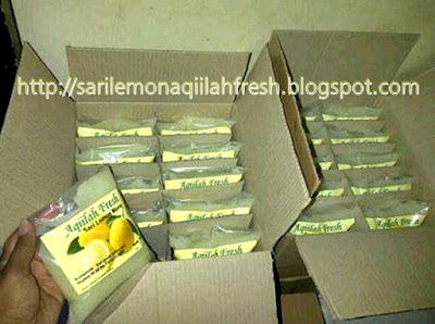 Kemasan Box Sari Lemon Murni Aqiilah Fresh isi 10 Pouch