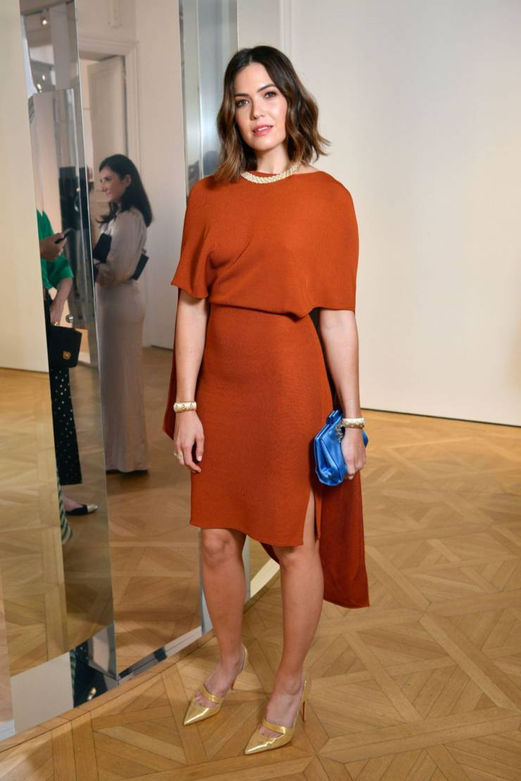 American Singer Mandy Moore At NET-A-PORTER Cocktail