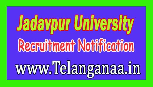Jadavpur University Recruitment Notification 2016