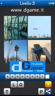 Trova la Parola - Foto Quiz con 4 Immagini e 1 Parola pacchetto 1 soluzione livello 3