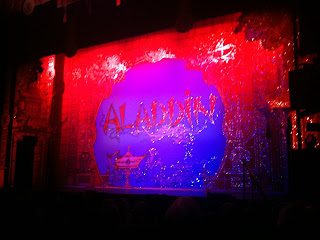 Aladdin curtain at Milton Keynes Theatre
