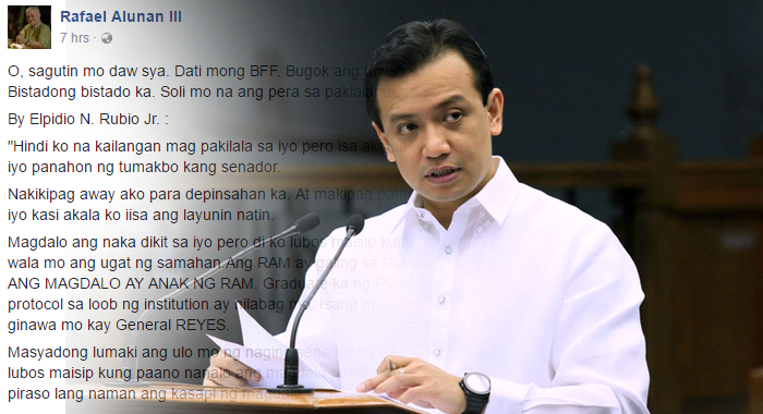 Open letter to Trillanes