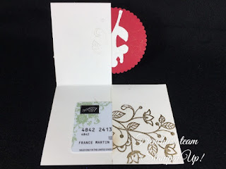 Frenchie's Team, Gift Card Holder, Stampin'Up!, Oh! What Fun, Flourishing Phrases