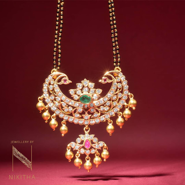 Diamond Mangalsutra from Nikitha