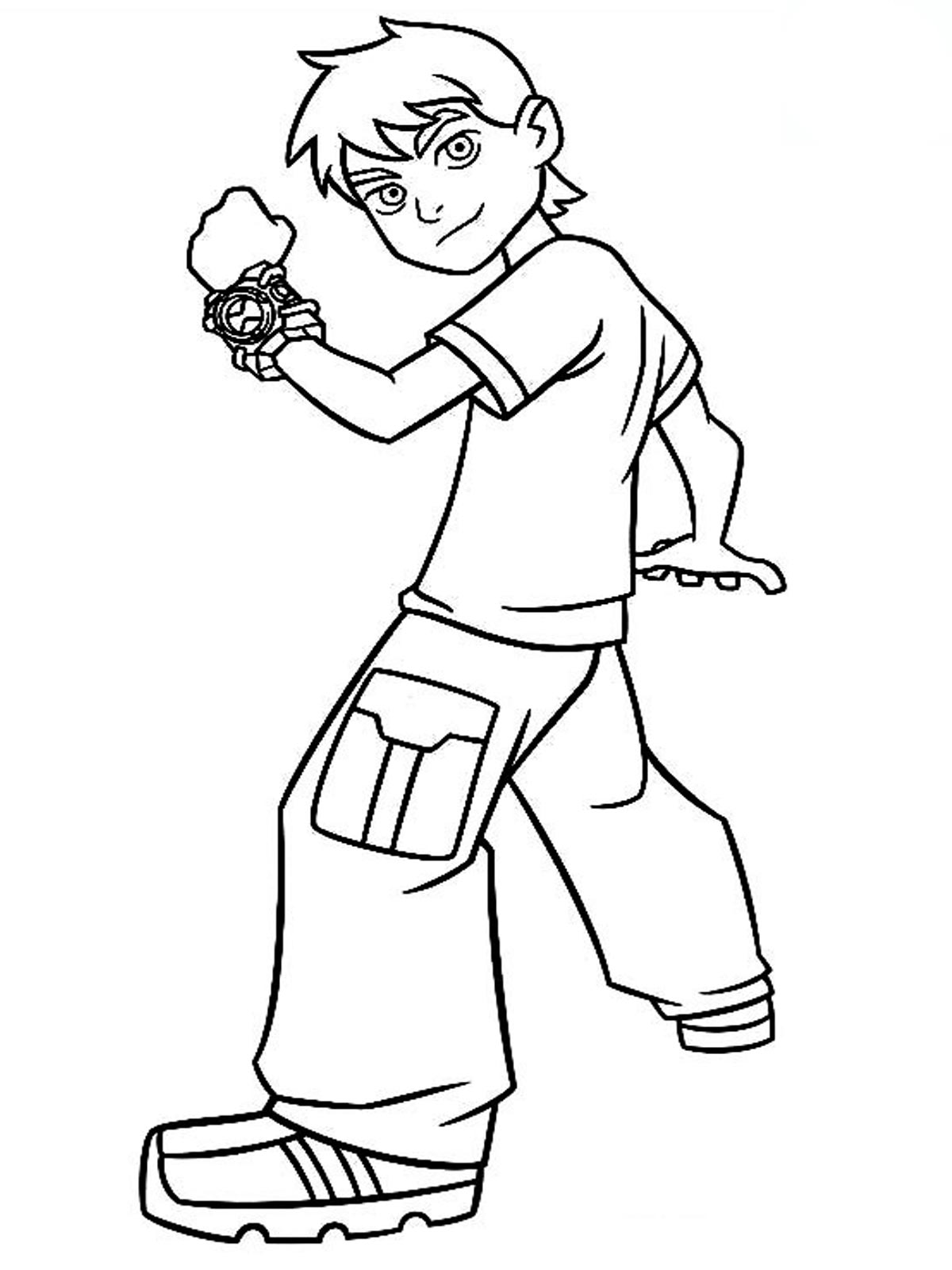 Ben 10 Coloring Pages Realistic