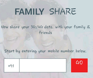 Airtel to Airtel internet data transfer kare