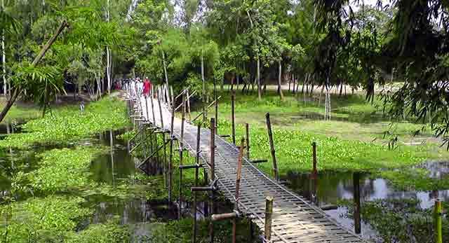 জিল্লুর রহমানের নিজস্ব অর্থে সোনাভরি নদীতে বাশেঁর সাঁকে নির্মাণ