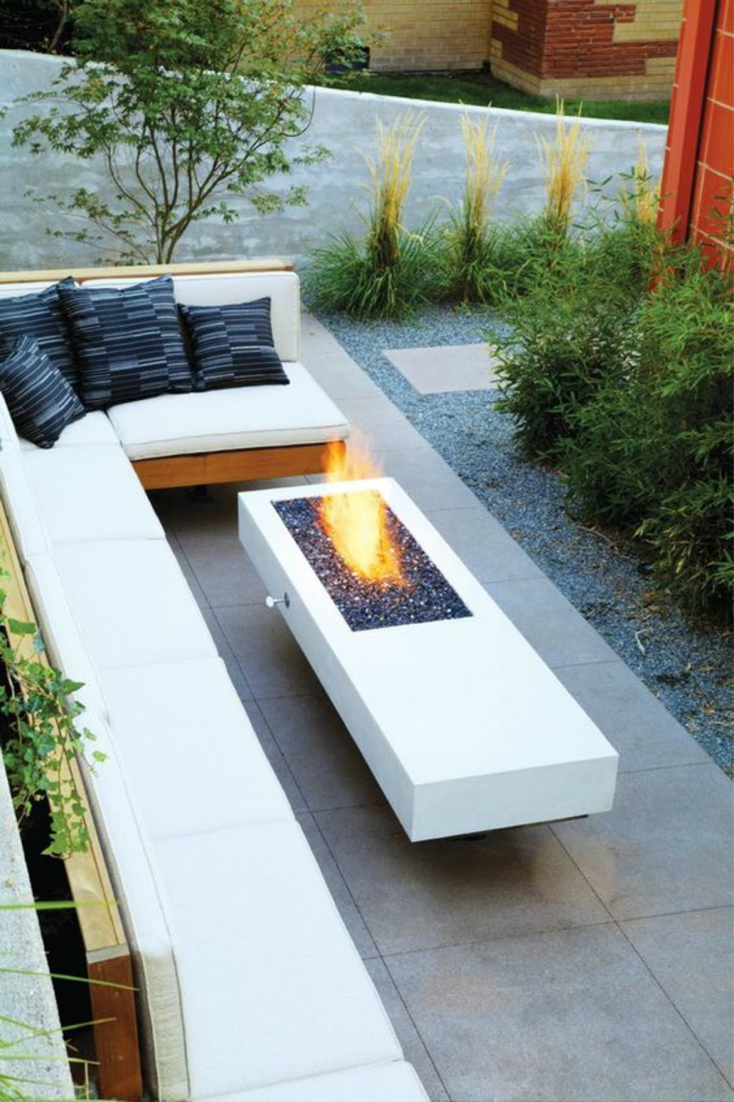 modern exterior space living room design