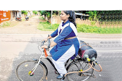 Tejaswani Priyadarshani from Rourkela, who invented Air Bike