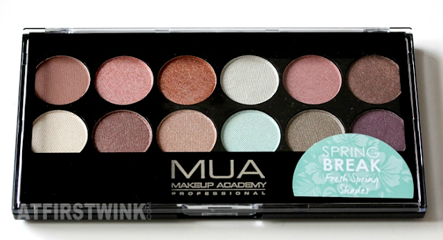 Review: MUA (makeup academy) eyeshadow palette - Spring Break