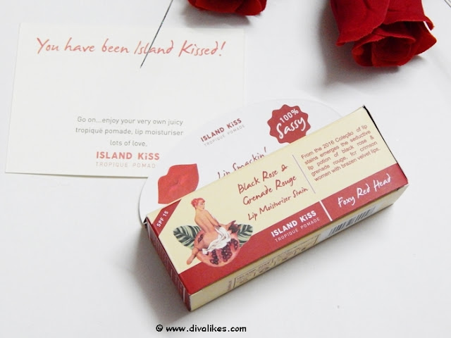 Island Kiss Black Rose and Grenade Rouge Lip Moisturiser Stain