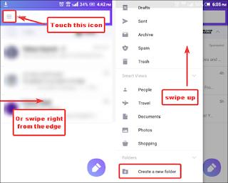 Cara Membuat Folder Surat  Yahoo! di Aplikasi Seluler