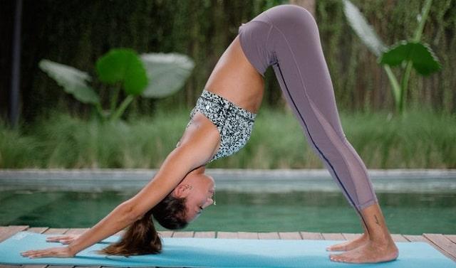 downward dog yoga workouts frugal fitness exercising home travel fit