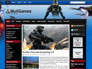 MultiGames Free WordPress Games Blogs Theme