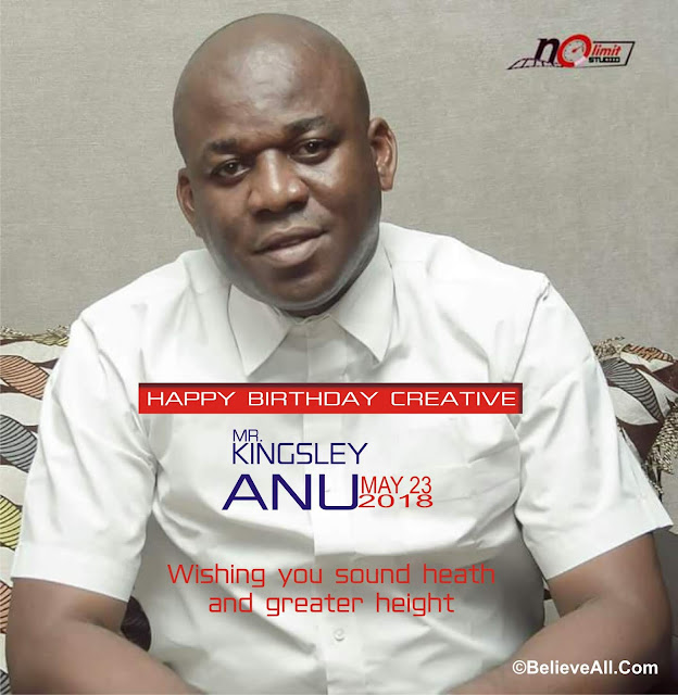 Kingsley Anu, the CEO of NoLimit Music Production is a year older today