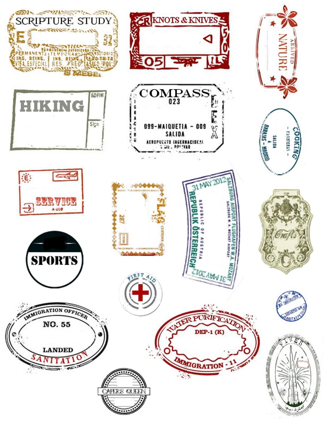 My 3 Monsters Embark Passport Stamp Printables