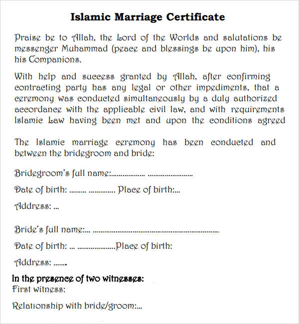 To Get Muslim Marriage Certificate In The Philippines