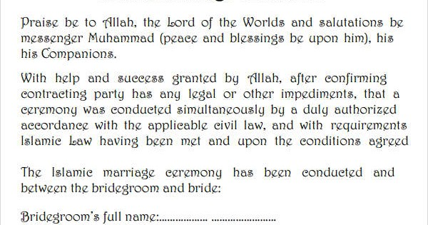 How To Get Muslim Marriage Certificate In The Philippines