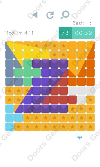 Cheats, Walkthrough for Blocks and Shapes Medium Level 441
