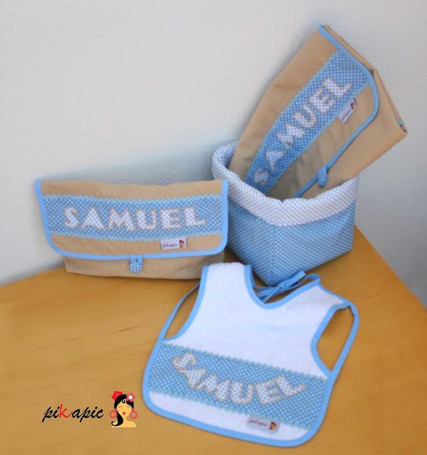 Canastilla bebé personalizada Samuel. Pikapic