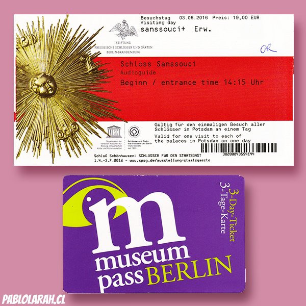 Museum Berlin and Schloss Sanssouci tickets.