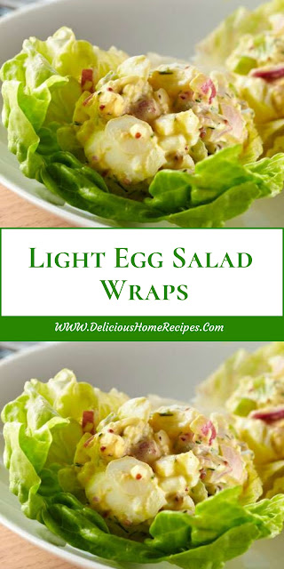 Light Egg Salad Wraps