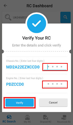 how to download rc of vehicle in mobile