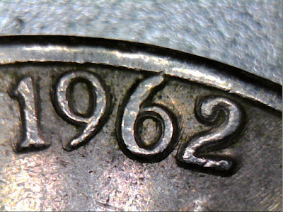 This is a 1962 P mint Jefferson nickle that has doubling throughout the coin.